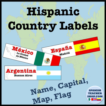 Hispanic countries info labels by spanishplans tpt hispanic countries info labels publicscrutiny Gallery