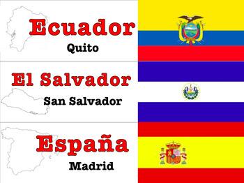 Hispanic Countries Info Labels