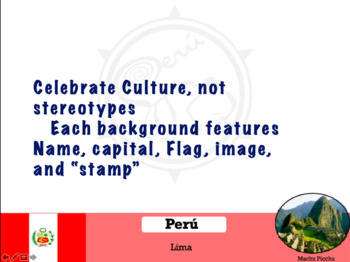 Hispanic Countries Powerpoint Backgrounds
