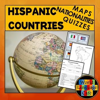Hispanic Countries Maps, Quizzes, Nationalities, Spanish Speaking Countries
