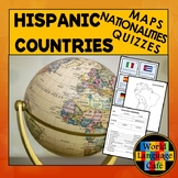 Spanish Speaking Countries Map, Quizzes, Nationalities, Hispanic Countries Map