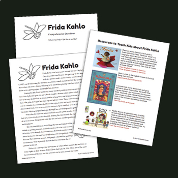 Hispanic Culture Lesson: The Story of Mexican Artist Frida Kahlo & Activity ~Eng
