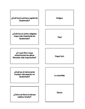 Hispanic Culture Trivia Game (Spanish version)
