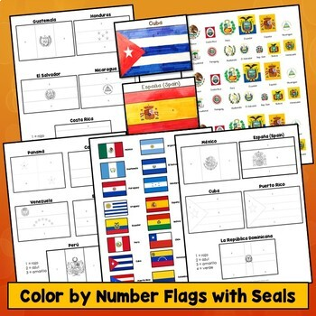 Hispanic Flags for Spanish Speaking Countries