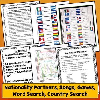 Hispanic Flags Bundle for Spanish Speaking Countries