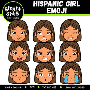 Hispanic Girl Emoji Clip Art