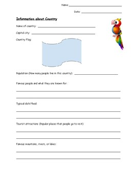 Hispanic Heritage Country Research Activity