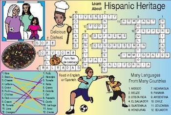 Hispanic Heritage Two-Page Activity Set