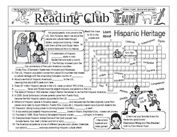 Hispanic Heritage Two-Page Activity Set