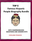 Hispanic Heritage: Top 8 Biographies Bundle of Famous Hispanics! (English)