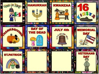 Hispanic Heritage Calendar Set