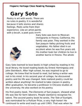 Hispanic Heritage Close Reading Passages