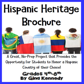 Hispanic Heritage Brochure Creative Writing Project