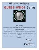 Hispanic Heritage GUESS WHO Game