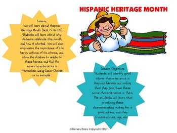 Hispanic Heritage Lesson - Spanish