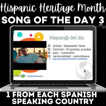 Hispanic Heritage Month: 1 song from each country! #3 2018