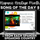 Hispanic Heritage Month: 1 song from each country! #5 2020