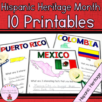 Hispanic Heritage Month-10 Countries & their Flags