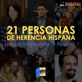 Hispanic Heritage Month: 21 biographies DIGITAL