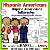 Hispanic Heritage Month Activities EN ESPANOL : Research Project Template
