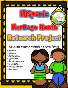 Hispanic Heritage Month {Research Project}