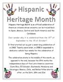 Hispanic Heritage Month 8 x 11 posters color Mes de la herencia hispana