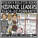 Hispanic Heritage Month [Cesar Chavez, Sonia Sotomayor] Teach- Go Pennants™