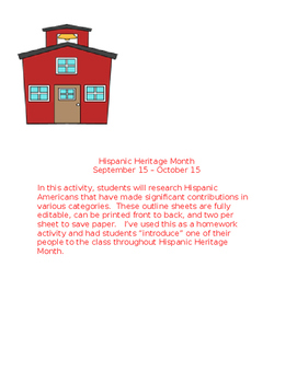 Hispanic Heritage Month Activity