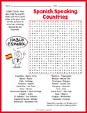 SPANISH SPEAKING COUNTRIES Word Search Puzzle Worksheet Activity