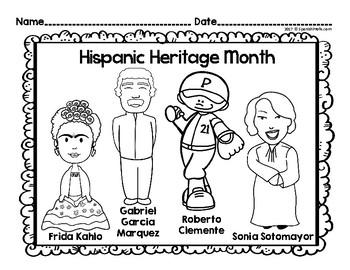 Hispanic Heritage Month Book & Activities (Mes de herencia hispana libro)