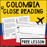 Global Readers: Colombia Close Reading Passage | Distance Learning