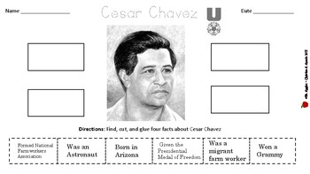 Hispanic Heritage Month Cut and Paste Worksheets