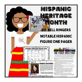 Hispanic Heritage Month: Daily Morning Work and One Pager Activity 2019