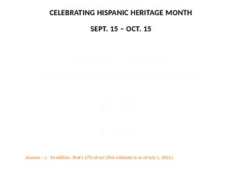 Hispanic Heritage Month Daily Facts