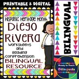 Hispanic Heritage Month - Diego Rivera - Worksheets and Readings (Bilingual)