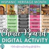 Hispanic Heritage Month:  Digital Choice Board Activity {7-12}
