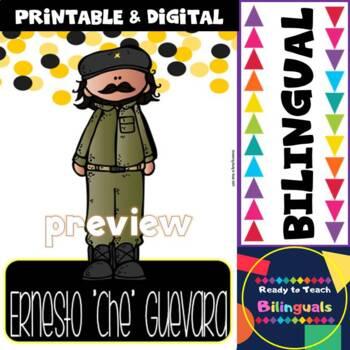 "Hispanic Heritage Month - Ernesto ""Che"" Guevara - Worksheets and Readings (Dual)"