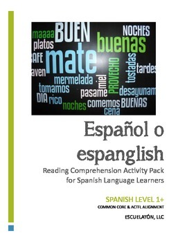 Hispanic Heritage Month: Español o espanglish Reading Comprehension Activity