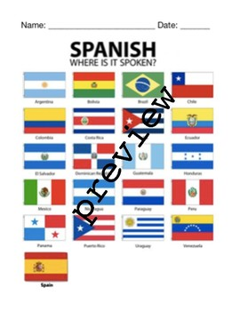 hispanic heritage month writing bundle hispanic countries flags