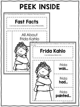 Interactive Notebook - Frida Kahlo Activities