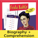 Hispanic Heritage Month: Frida Kahlo Reading and activitie