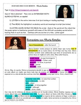 Hispanic Heritage Month Gloria Estefan Interview