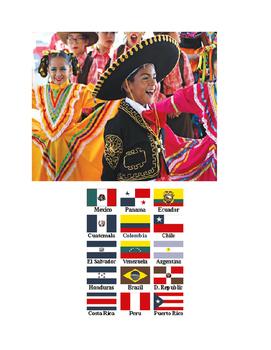 Hispanic Heritage Month Interactive Bulletin Board SCAVENGER HUNT