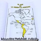 Hispanic Heritage Month - Interactive Notebook Activity