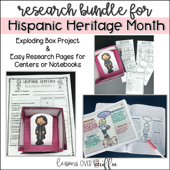 Hispanic Heritage Month: Interactive Research Projects with Rubrics