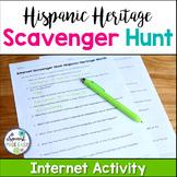 Hispanic Heritage Month Internet Scavenger Hunt