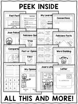 Jose Feliciano Interactive Notebook Activities
