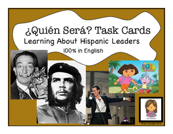 Hispanic Heritage Month: Leader Task Cards and Game (Engli