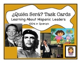 Hispanic Heritage Month: Leader Task Cards and Game (Spanish Version)