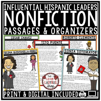 Hispanic Heritage Month Nonfiction Reading Passages & Questions 4th Grade